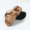 Fancy Strap Style Sandals For Boys - Beige (DES-3)