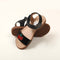 Cherry Shiny Strap Sandals For Girls - Black (0910-11)