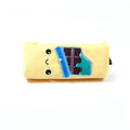 Smiley House Design Pencil Pouch - Yellow (ZQ-871)