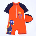 Heroes 1Pc Swimming Costume For Boys - Navy/Orange (A9931-BS01)