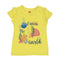 Explore The World T-Shirt For Girls - Yellow (GTS-20)
