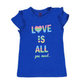 Love Is All Printed T-Shirt For Girls - Blue (GTS-22)