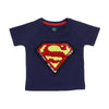 Superman Sequin T-Shirt For Boys - Navy (BTS-78)