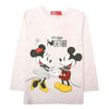 Mickey Mouse Printed T-Shirt For Girls - White (GS-03)