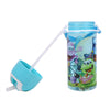 Cartoon Straw Water Bottle 500ml - Blue (8602)