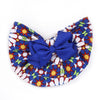 Stylish Bow Round Cap For Kids - Blue (RC-017)