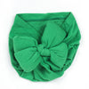 Baby Round Bow Cap For Kids - Green (RC-005)