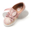 Fancy Slip On Sneakers For Girls - Pink (372-2)