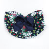 Stylish Bow Round Cap For Kids - Navy (RC-018)