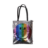 Smiley Emoji Hand Bag - Silver (4546)