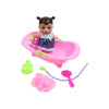 Doll Bath Tub Toy For Kids - Pink (669-551A)