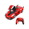 Open 2 Doors Auto Remote Control Car - Red (699-66)