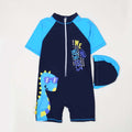 Dinosaur 1Pcs Swimming Suit For Boys - Blue (SC-002)
