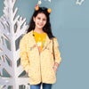 Let's Go Girl's Zipper Fleece Hoodie - Yellow (FJ-06)