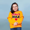 Girls Rule Sweat Shirt For Girls - Orange (GS-01)