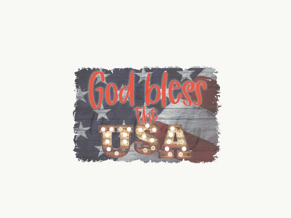 God Bless The USA Design Download