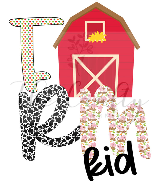 Farm Kid Design Download