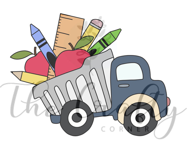 Truck With School Supplies Transfer