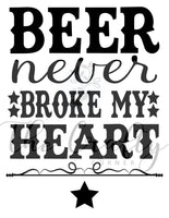 Beer Never Broke My Heart Transfer