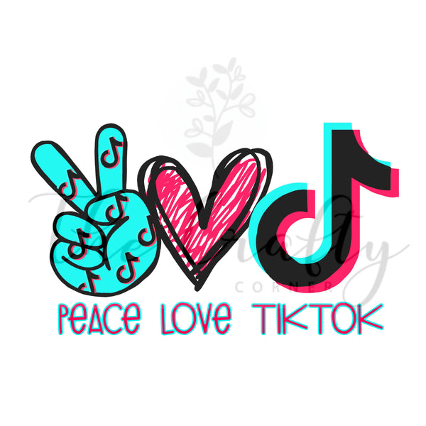 Peace Love TikTok Transfer