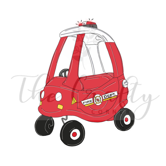Firetruck Cozy Coupe Transfer