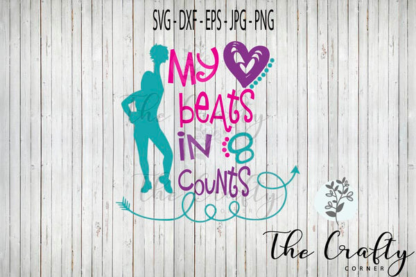 My Heart Beats In 8 Counts SVG