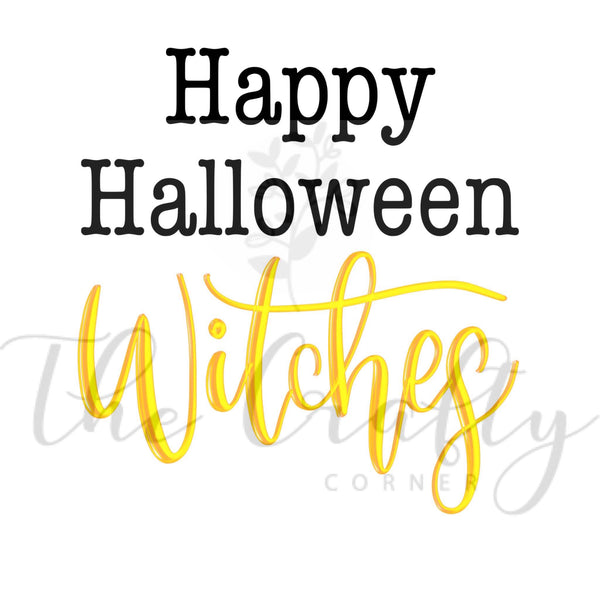 Happy Halloween Witches Transfer