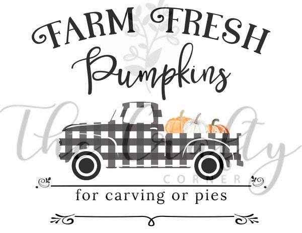 Farm Fresh Pumpkins Transfer