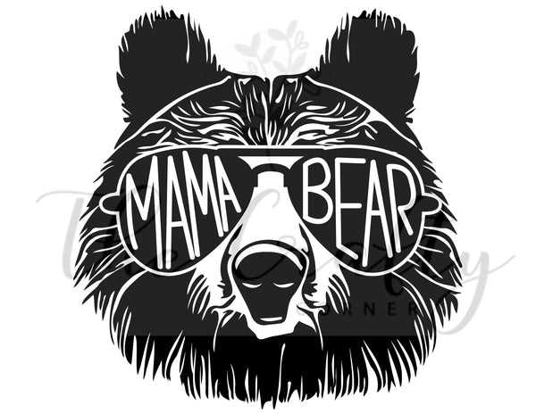 Mama Bear ADULT Screen Print Transfer