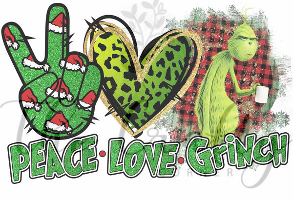 Peace Love Grinch Transfer
