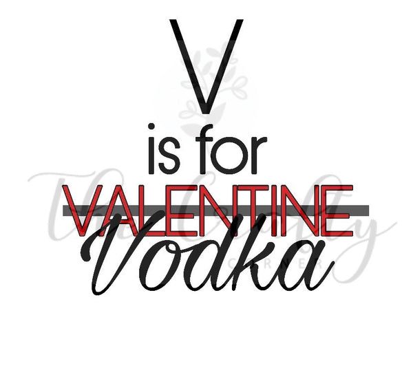 V Is For Vodka Transfer
