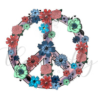 Floral Peace Sign Transfer