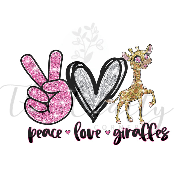 Peace Love Giraffes Transfer