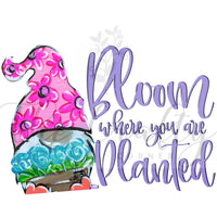 Bloom Where You Are Planted Transfer