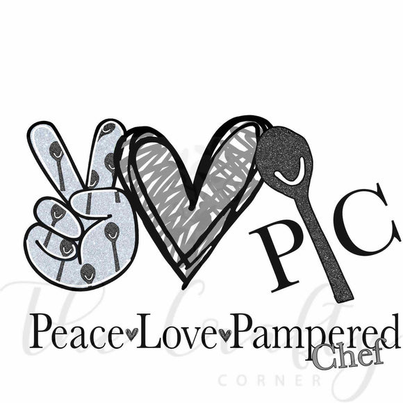 Peace Love Pampered Chef Transfer