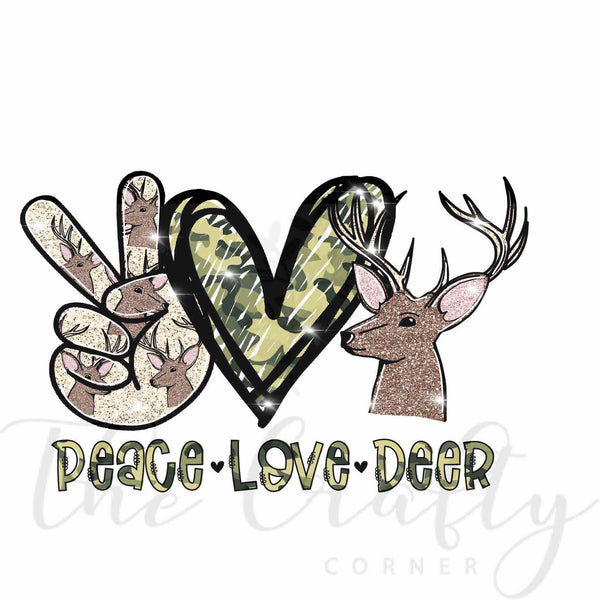 Peace Love Deer Transfer