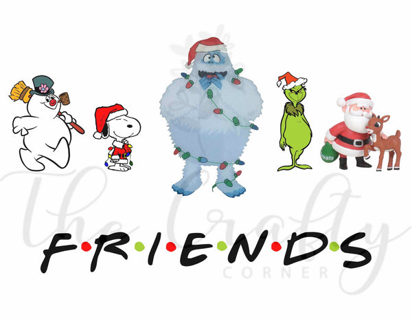 Christmas Friends Transfer