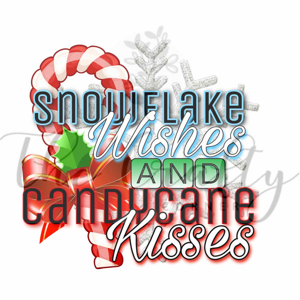 Snowflake Wishes And Candycane Kisses Transfer