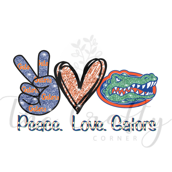Peace Love Gators Transfer