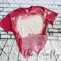 Heather Red Bleached Tee