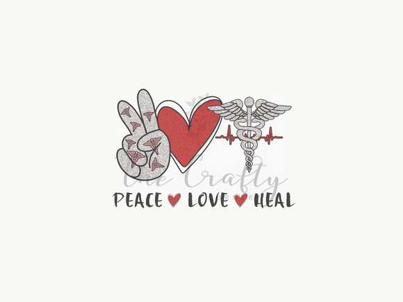 Peace Love Heal Transfer