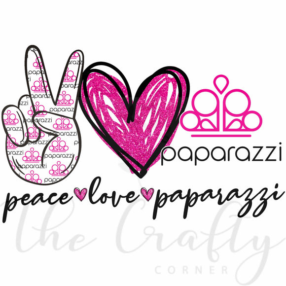 Peace Love Paparazzi Transfer