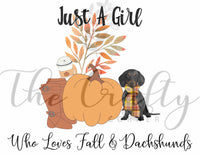 Fall & Dachshunds Transfer