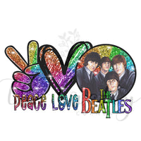 Peace Love The Beatles Transfer