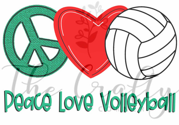 Peace Love Volleyball Transfer