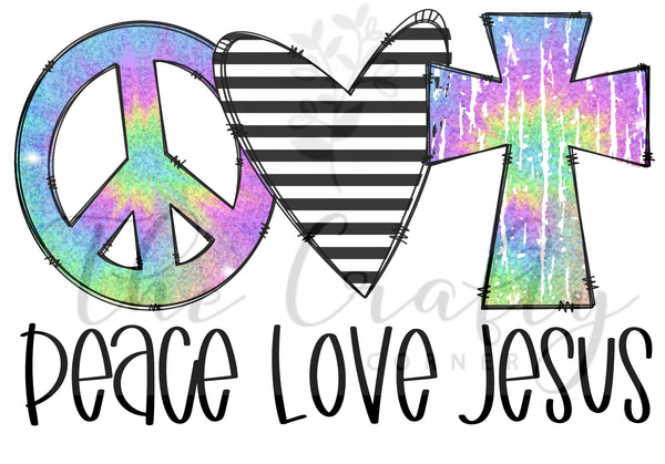Peace Love Jesus Transfer