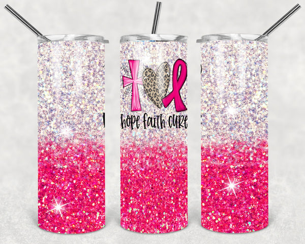 Hope Faith Cure Tumbler Wrap
