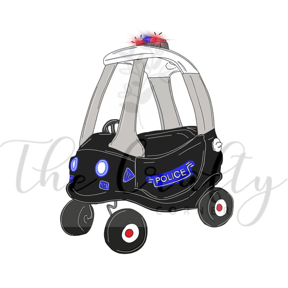 Police Car Cozy Coupe Transfer