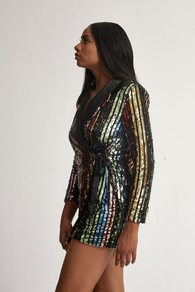 Multi Sequin Blazer