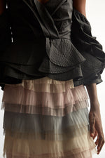 Multi Ruffle Maxi Skirt